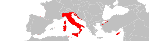 lagartija-italiana-distribución Lagartija italiana Lagartija italiana lagartija italiana distribuci  n