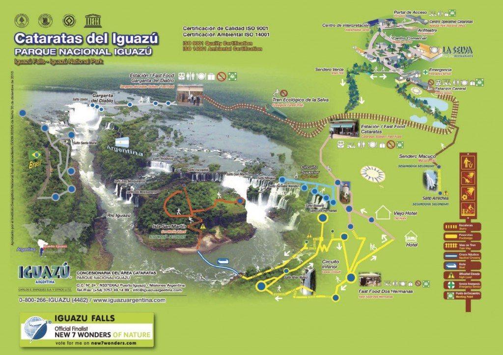 Parque nacional Cataratas de Iguazú Cataratas de Iguazú Iguazu distribucion